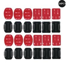 Supports adhésifs incurvés plats support autocollant pour GoPro Hero 8 noir 9 7 5 Xiaomi Yi 4K Mijia SJCAM caméra daction Go Pro accessoires