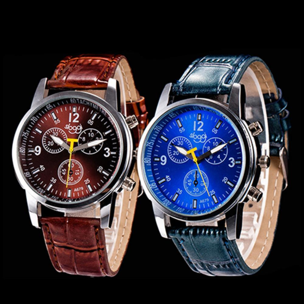 80% Hot Sales!! Men\'s Fashion Faux Leather Strap Round Dial Analog Business Quartz Wrist Watch the hot selling 2018 men s quartz movement classic business style the only designated choice