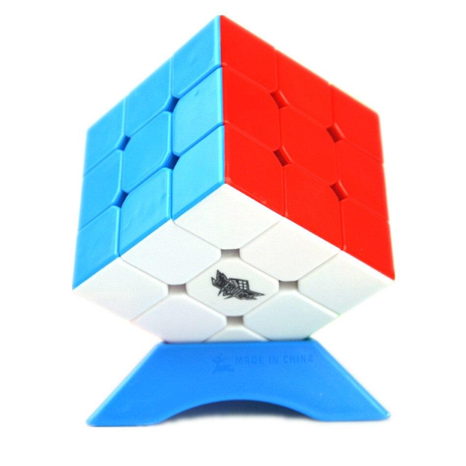Ciclone menino stickerless 3x3x3 velocidade cubo mágico 3x3 cubo mágico profissional cérebro teaser brinquedo para presente das crianças