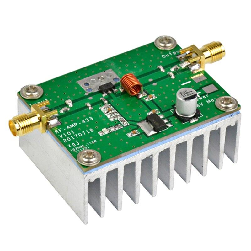 433MHz 8W placa amplificadora de potencia de RF HF de amplificadores de...