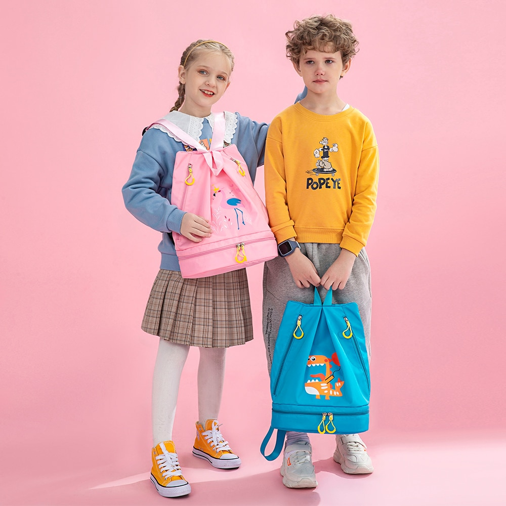 Fashion Girl School Bags Child Pink Printing Backpack Dinosaur Student Cute Boy Children's Schoolbag With Shoes Storage
