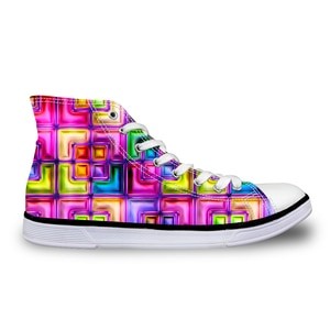 HaoYun Women Vulcanize Shoes Special 3D Design Ladies High-top Canvas Shoes Girls Colorful Lace-up Sneaker Shoes Sapato Feminino