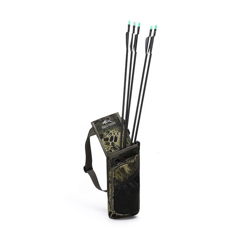 Wholesale Arrow Quiver Adjustable Archery Arrow Case Hold Bag Hunting Back Arrow Bag With Back Strap