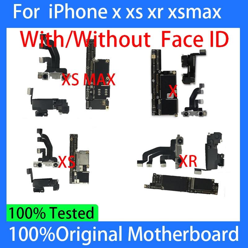 الأصلي مع/بدون الوجه ID آيفون X XR 11/12 برو ماكس اللوحة مقفلة الحرة iCloud المنطق مجلس OS تحديث اللوحة الرئيسية