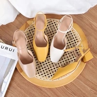 new spring luxury designer of 2021 with hollow clear shoes in front and back zapatos de mujer high heels sandals women sandalen