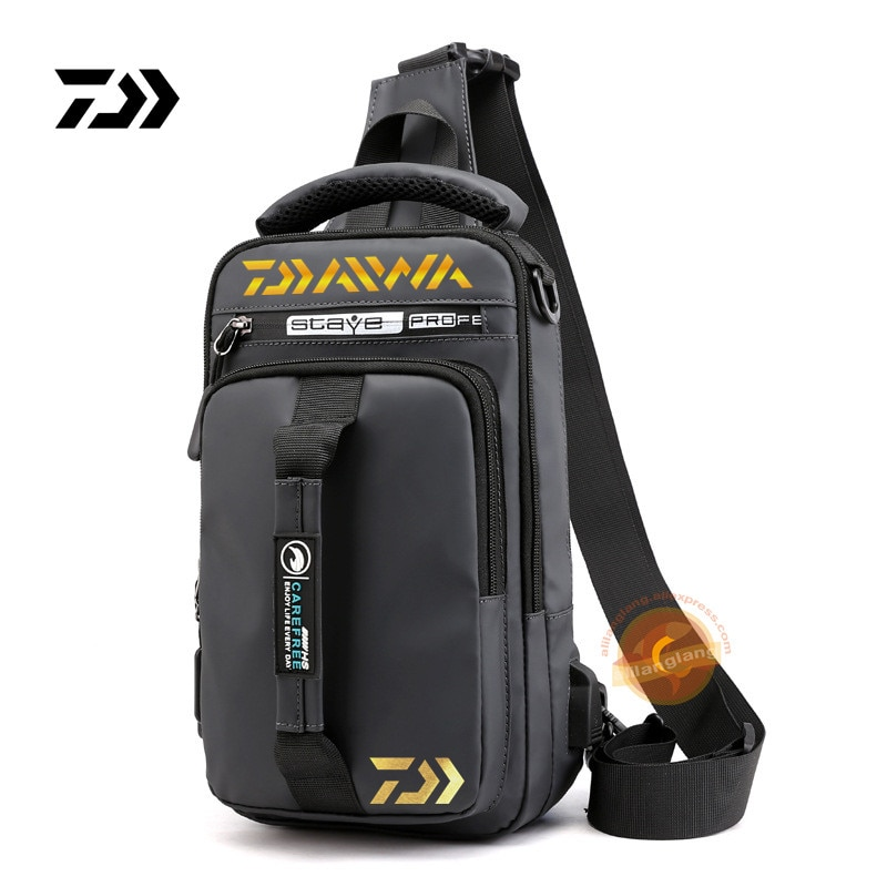 2021 New Daiwa Men Women Single Shoulder Fishing Bags Waterproof Leisure Multi Function Backpacks Fi