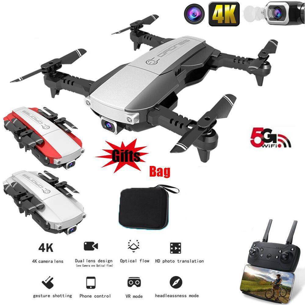 GloryStar Drone x pro 5G Selfie WIFI FPV con 4K Cámara Dual de HD plegable RC Quadcopter