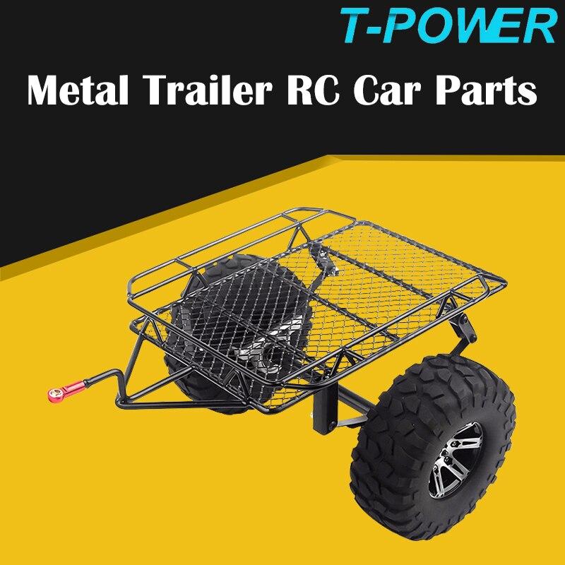 T-de 1/10 Metal montaje tipo enganche eje simple del remolque Kit para RC Crawler Axial SCX10 90046 Traxxas TRX4 D90 Tamiya CC01