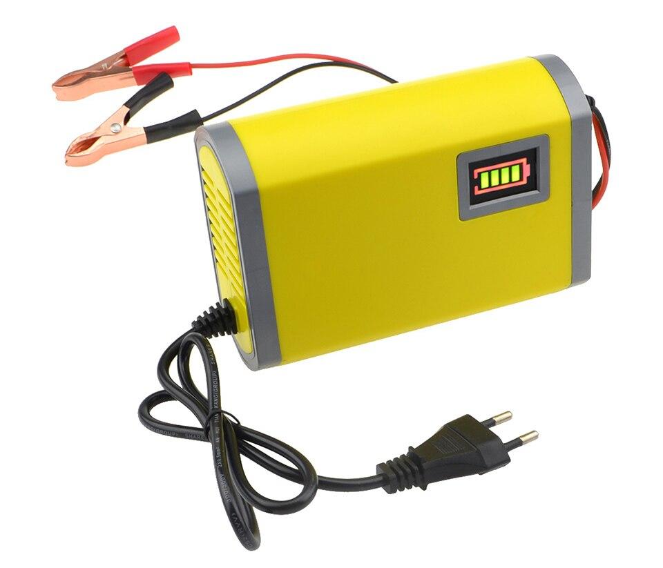 12V 6A Universal Smart Auto Batterie Ladegerät Power Ladung AGM VRLA Gel Blei Säure Motorrad Ladegerät 12V Puls reparatur LCD Display