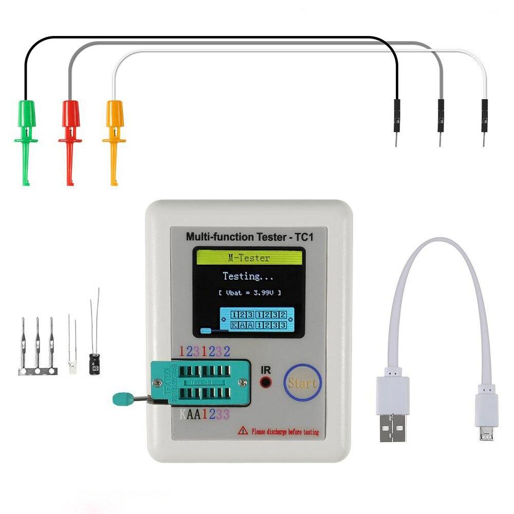 Тестер lcr-tc1 транзисторов, Измеритель lcr tc1 с дисплеем 1,8 дюйма, многофункциональный tft