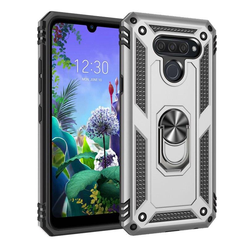 Metal Ring Car Holder for Coque LG K50s Case Luxury Phone Back Cover for LG K51 Smartphone Case LG K50 S K 51 Shockproof Case