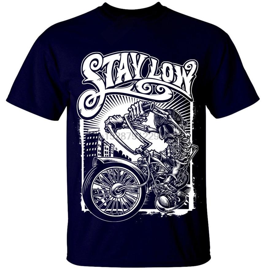 Bleiben Niedrigen T-Shirt Herren S-3Xl Graffiti Biker Reiter Lowrider Skeleton Skater Mode Klassische Stil T-shirt