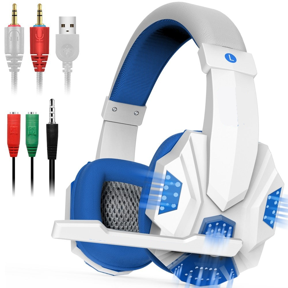 HYASIA شحن مجاني LED سماعات للعب الكمبيوتر السلكية ألعاب سماعة ستيريو الصوت فوق الأذن سماعة مع ميكروفون للكمبيوتر PS4