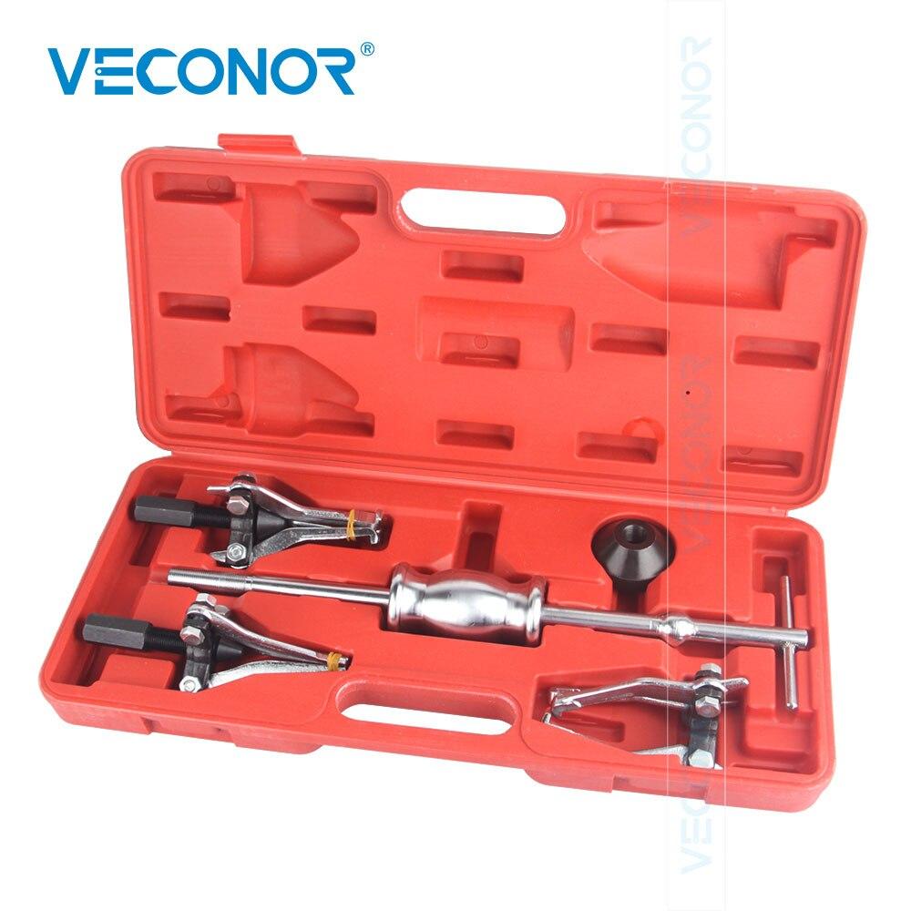 Juego de 5 uds de herramientas extractoras de rodamientos interiores y exteriores de 3 mordazas, juego de poleas extractoras para reparación automática