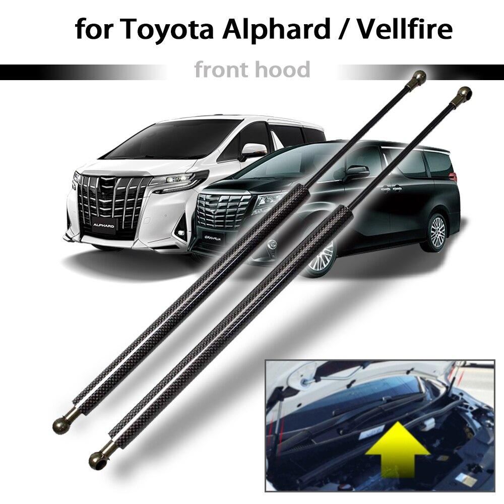 for Toyota Alphard / Vellfire 30 series 2015-2019 2x Front Hood Bonnet Modify Carbon Gas Struts Lift Support Shock Dampermper