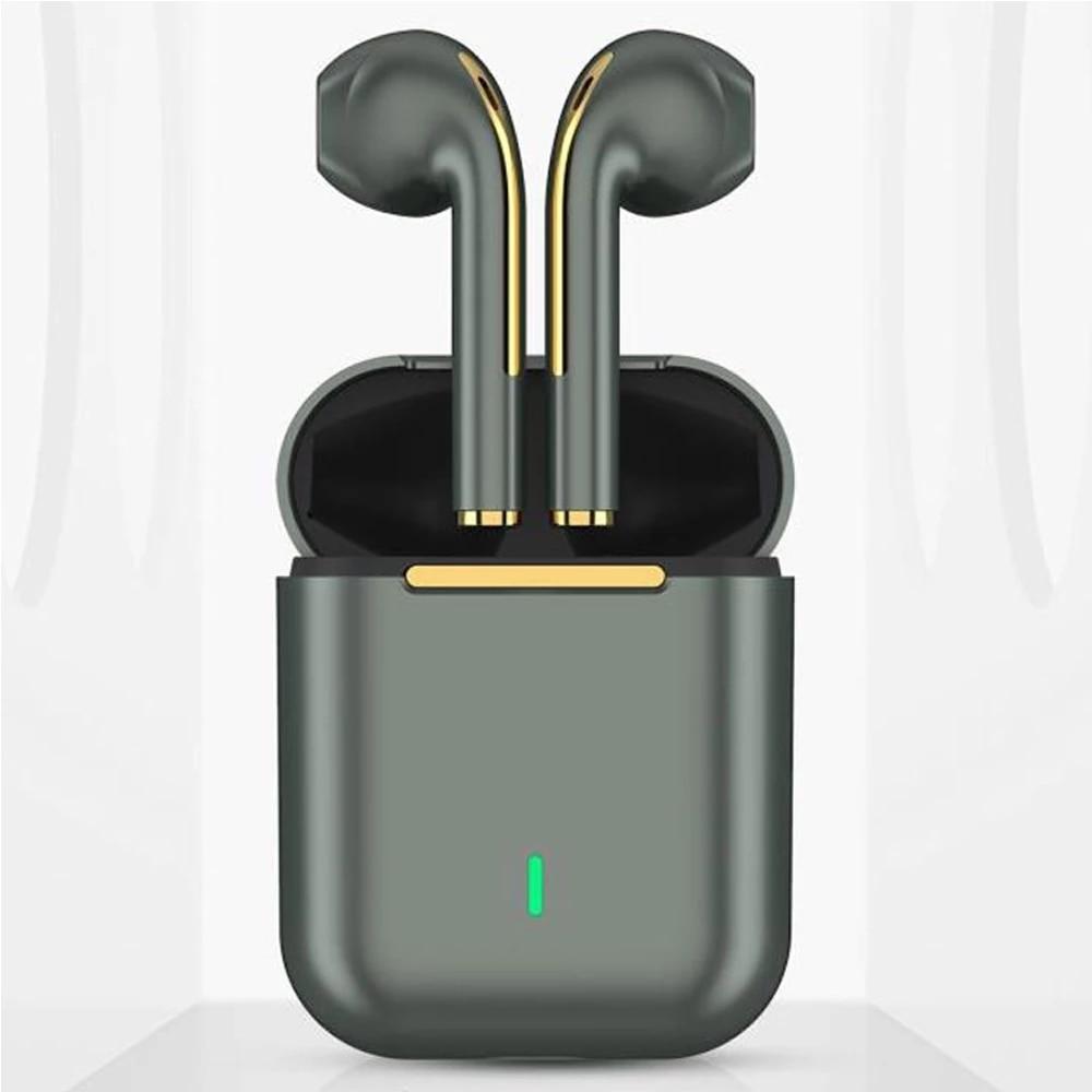 J18 TWS سماعات بلوتوث الموسيقى سماعة مقاوم للماء التحكم باللمس الدقة الصوت آيفون هواوي شاومي سماعات لاسلكية