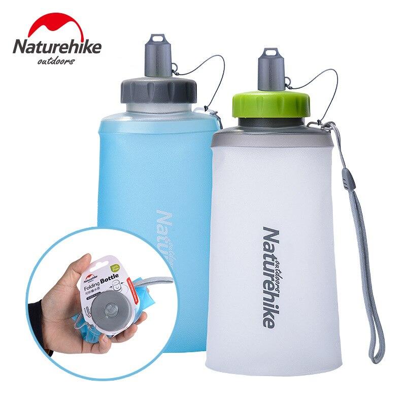 Naturehike في 500 750 مللي مصغرة زجاجة من السيليكون قابلة للطي للطي خفيفة زجاجة رياضية زجاجات مياه في الهواء الطلق تسلق الجبال كوب NH61A065-B