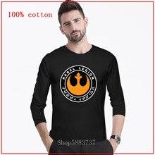 2020 nueva moda rebelde legión de star wars de los hombres camiseta estrella de la batalla de las guerras soldado t camisa rebelde camiseta de Legión Camisetas largas