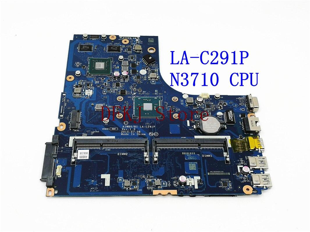 LA-C291P لينوفو B51-30 اللوحة الأم كمبيوتر محمول AIWB0/B1 LA-C291P 5B20M14034 ث/SR2KL N3710U 2GB اختبارها بشكل كامل موافق