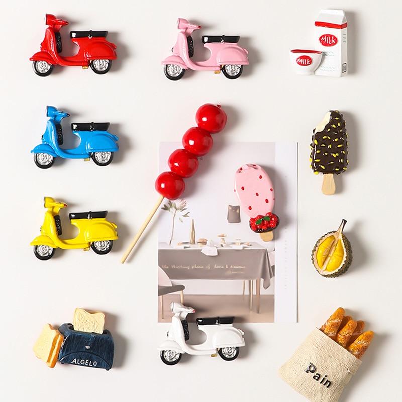 Biónica comida 3d creativo refrigerador etiqueta engomada magnética nórdicos ins de dibujos animados imán de nevera lindo mensaje Junta etiqueta engomada magnética regalos