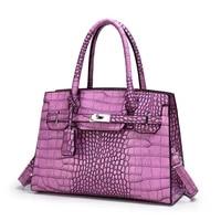 female bag classic platinum bag large capacity crocodile grain restoring ancient ways hand bags crossbody bags for women