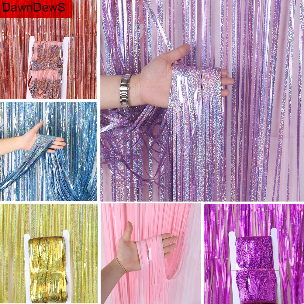 1x2 m folha metálica cortina de estanho franja guirlanda mr mrs festa de casamento pano de fundo cortina photobooth feliz aniversário decoração parede