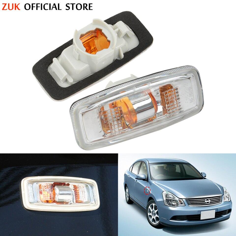 ZUK guardabarros coche lámpara de luz de señal de giro lateral indicador...