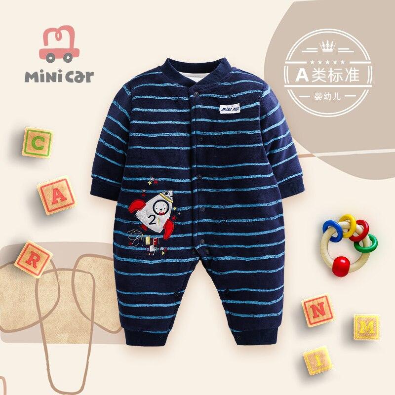 Детская одежда из тонкого хлопка, осенне-зимняя одежда для новорожденных, Слитная одежда, теплая детская одежда