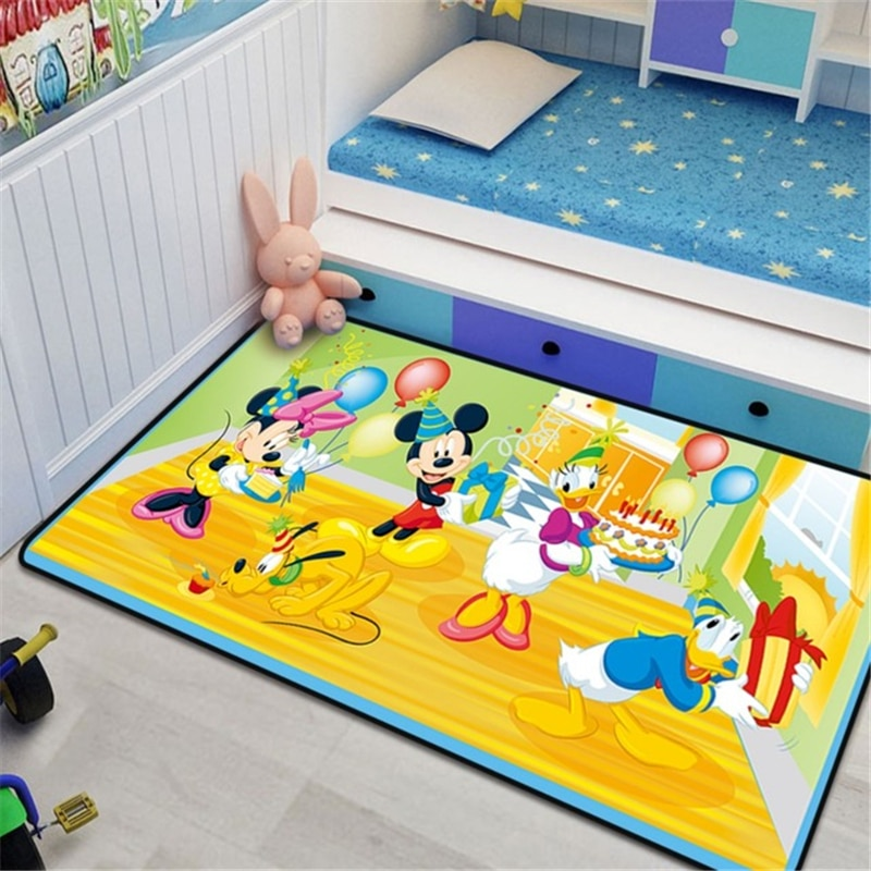 Disney 80x160cm Baby Play Mat Carpet for Living Room Home Bedroom Bedside Rug Kitchen Floor Door Mat Area Rug