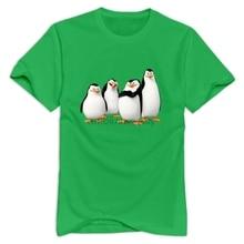 Stabe men Madagascar penguin T-shirt short sleeve geek X large size Men Short Sleeve Original