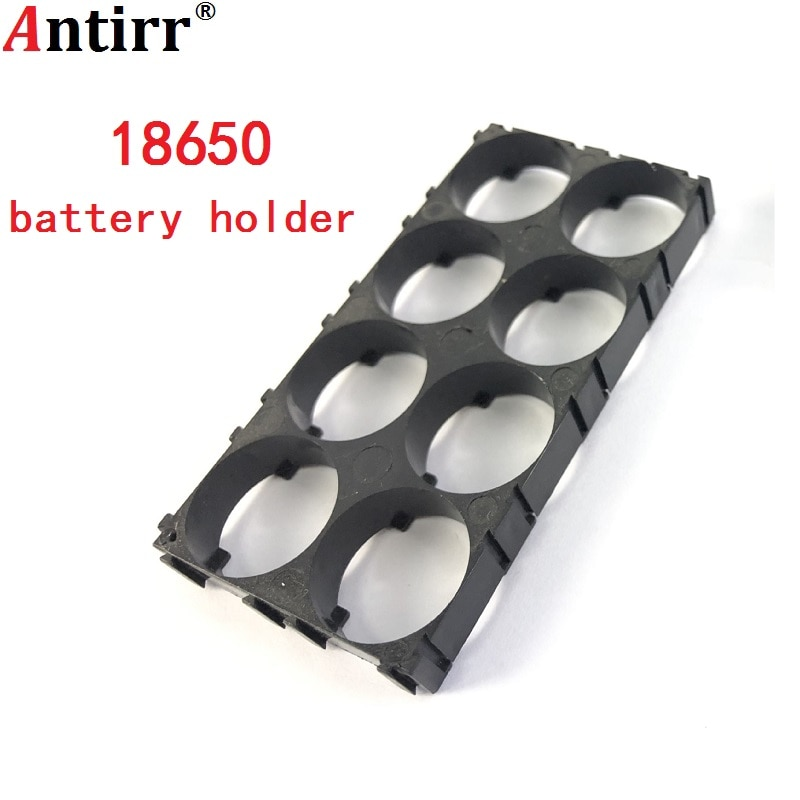 18650 soporte de batería 2x4 celdas 18650 baterías espaciador carcasa radiante plástico soporte estable calor soporte envío gratis