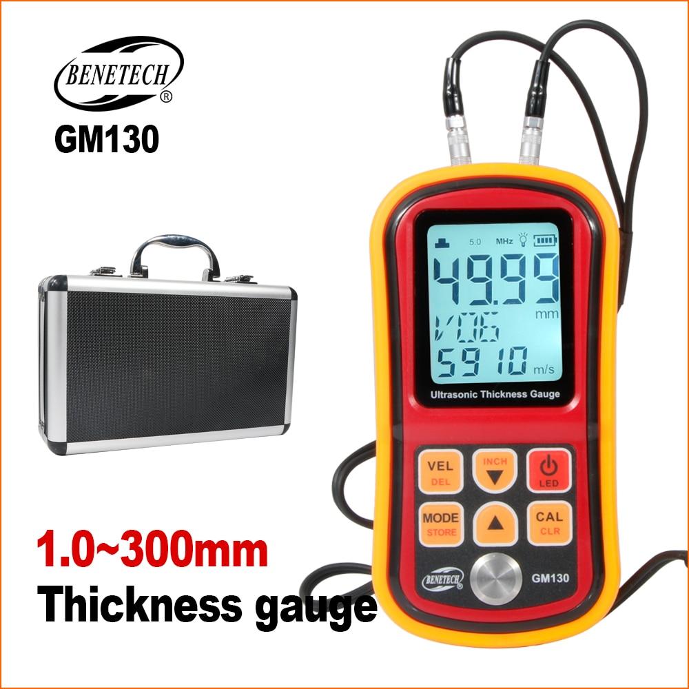 BENETECH Ultraschall Dicke Gauge Digital Paint Beschichtung Meter Elektronische Dicke Gauge Tester 1,0-300MM Dicke Messgeräte