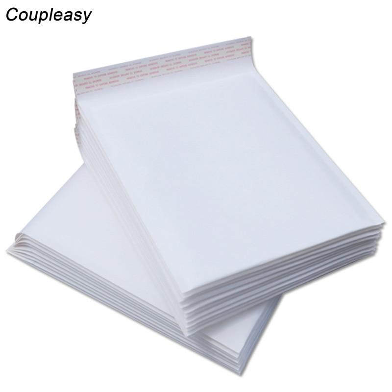 20 pièces Bulle Mailers Enveloppes Rembourrées Emballage Sacs Dexpédition Kraft Blanc Bulle Enveloppe Sacs Mousse Sac De Rangement 8 tailles