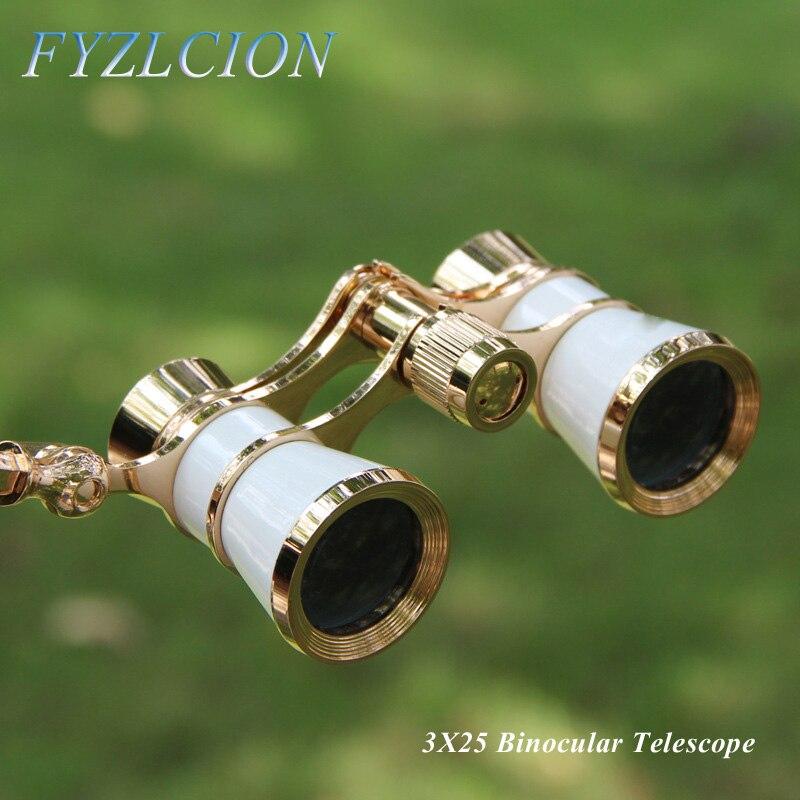 4 tipos de ópera teatro cavalo corrida 3x25 óculos telescópio binocular com alça/acessório kit moda feminina elegante
