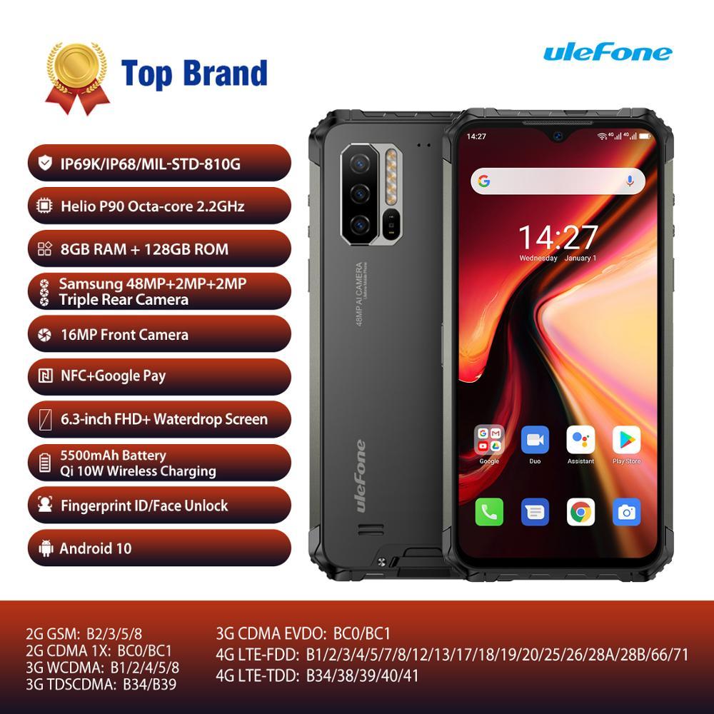 Перейти на Алиэкспресс и купить Глобальная версия Ulefone Armor 7 Android 10 смартфон прочный мобильный телефон Helio P90 8 ГБ + 128 ГБ 2,4G/5G WiFi IP68 48MP CAM 4G LTE