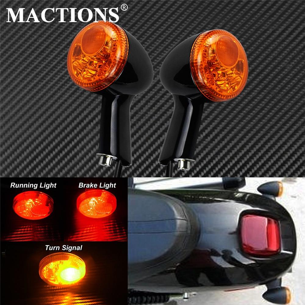 مؤشر إشارة الانعطاف الخلفي للدراجات النارية ضوء كهرماني LED ضوء الفرامل الجري يناسب هارلي سبورتستر XL883 XL1200 1994-2016
