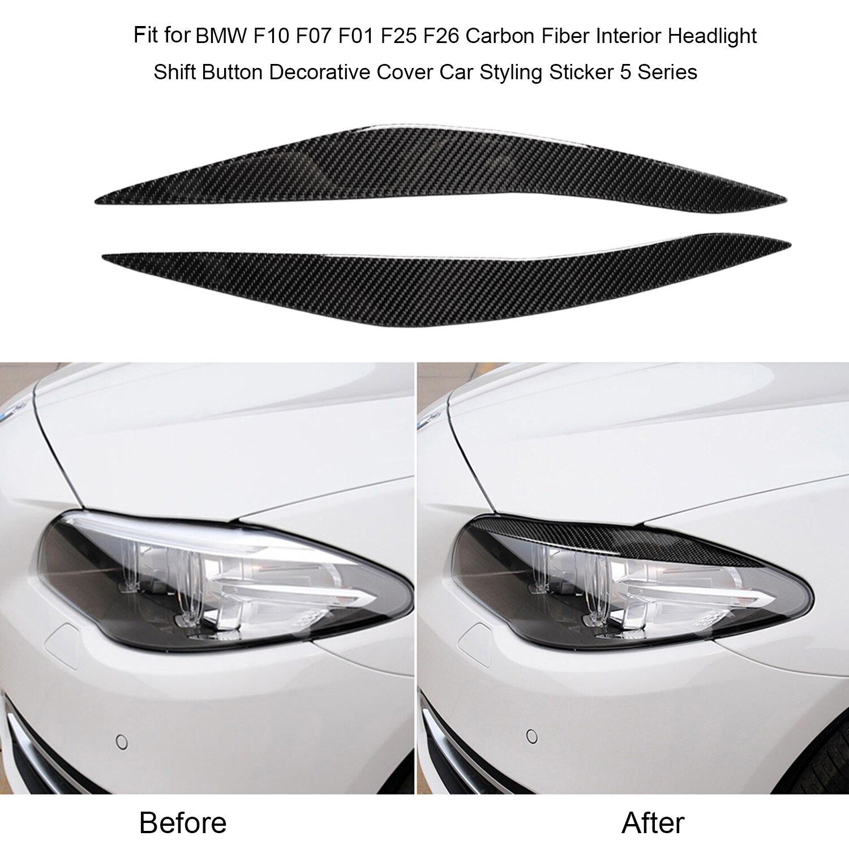 Фары из углеродного волокна для бровей Подходит для BMW F10 5 серии 2010-2013 автомобильные аксессуары Запчасти
