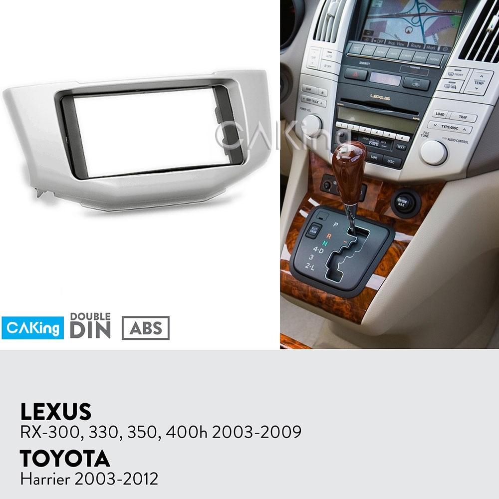 Car Fascia Radio Panel for Toyota Harrier 2003-2012;Lexus RX-300/330/350/400h 2003-2009 Dash Kit Install Facia Plate Bezel Trim