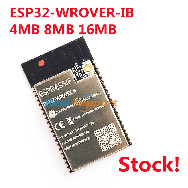 10 قطعة ESP32-WROVER-IB 4MB 8MB 16MB فلاش ESP32 Ipex هوائي وحدة على أساس ESP32-D0WD WiFi-BT-BLE MCU وحدة 8MB PSRAM