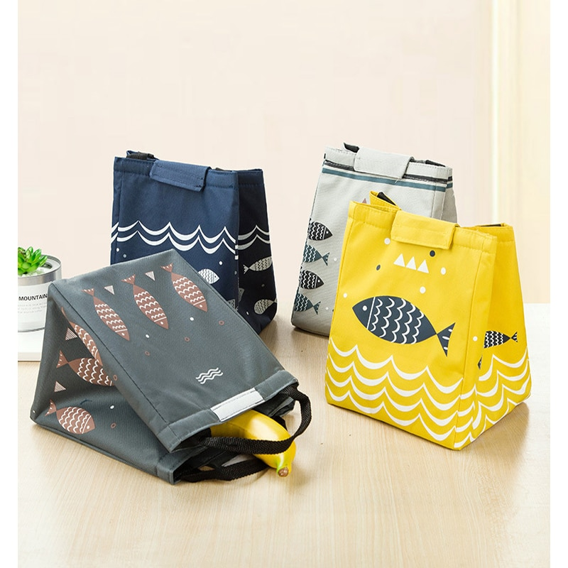 Portable canvas lunch box bag insulation bag aluminum foil thickened Lunch Bag8# недорого