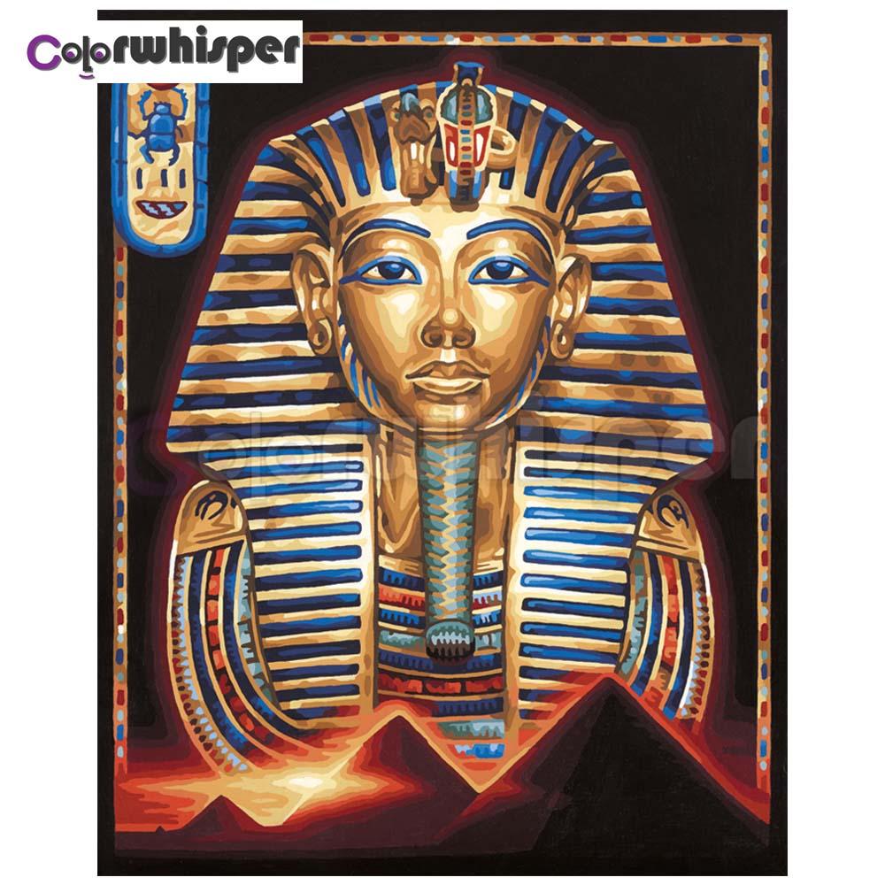 Pintura de diamante cuadrado completo/taladro redondo faraón egipcio 5D Daimond pintura bordado punto de cruz cristal mosaico foto Z462