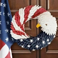 american eagle wreath home decor america patriotic wreath for front door election vote president decorative garland