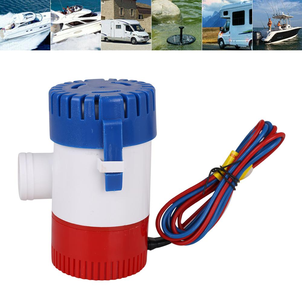 Bilge Pump  1100GPH DC 12VV Electric Water Pump For Aquario Submersible Seaplane Motor Homes Houseboat Boats Car Accessories
