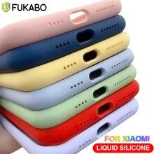 Luxury Liquid Silicone Case For Xiaomi Redmi Note 10 10S 9 9S 8 7 6 5 Pro Lite Mi Poco X3 NFC Pro M3