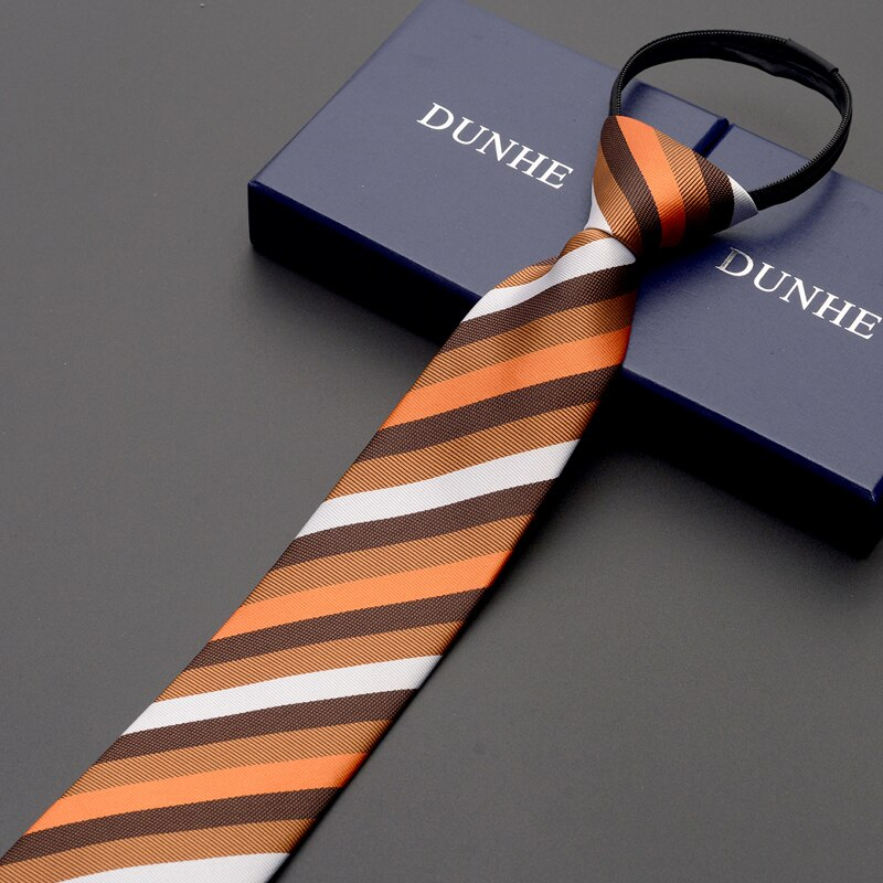 High Quality 2019 New Designers Brands Fashion Business Casual 7cm Slim Ties for Men Red Zipper Necktie Formal with Gift Box
