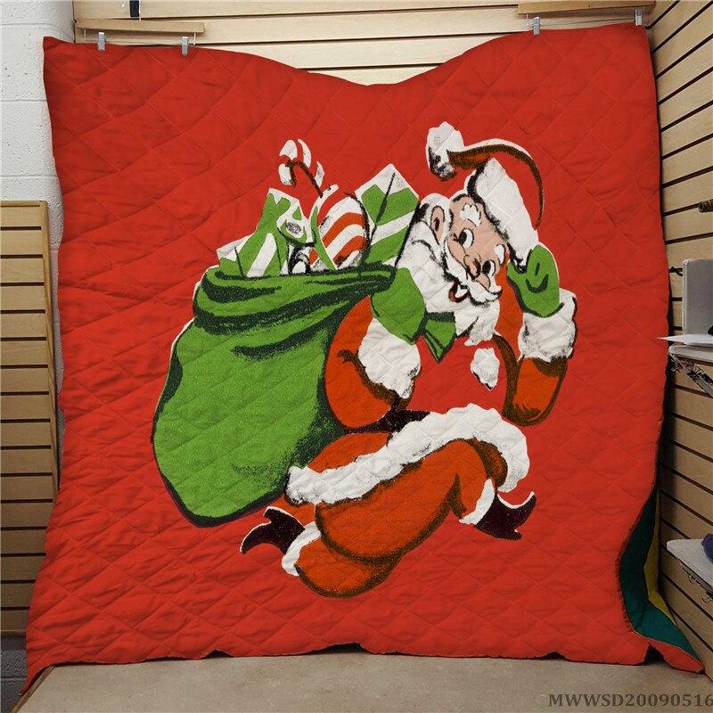 لحاف بتصميم بابا نويل كرتوني ، سرير ناعم إبداعي مسامي ، هدية للأطفال ، ديكور غرفة نوم لجميع الفصول