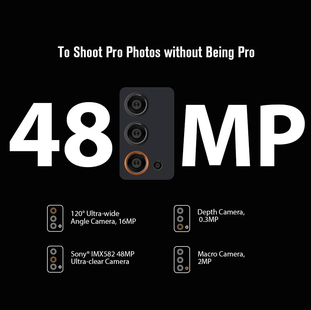 Blackview BV9900E Helio P90 Rugged Smartphone 6GB+128GB IP68 Waterproof 4380mAh 48MP Camera NFC Android 10 Mobile Phone enlarge