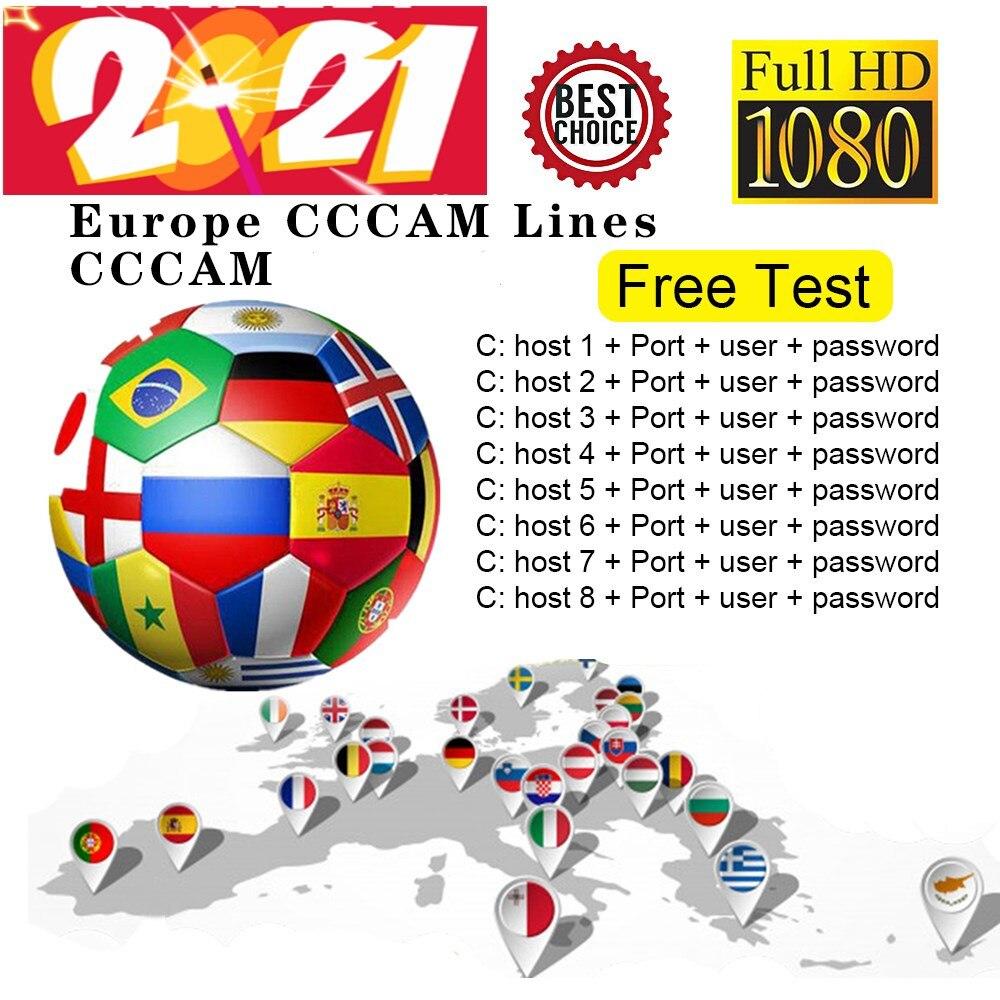 2021 linhas ccam para europa 7 linha DVB-S2 satélite gtmedia v8 nova...