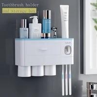 Distributeur automatique de dentifrice avec tasse  support mural de rangement pour articles de toilette  ensemble daccessoires de salle de bains