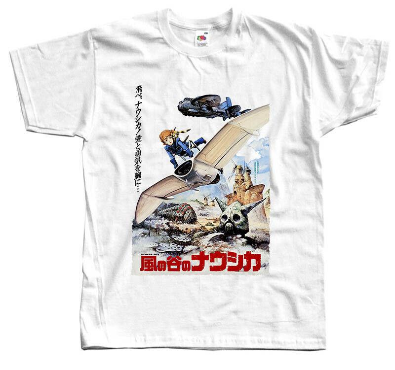 Kaze No Tani No Nausicaa V3, camiseta de Anime 1984, Blanco violeta, todas las tallas S 5Xl